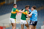 Sean O'Shea, Kerry David Clifford, Kerry in a tussle with John Small, Dublin and Michael Fitzimons, Dublin during the Allianz Football League Division 1 South between Kerry and Dublin at Semple Stadium, Thurles on Sunday.
