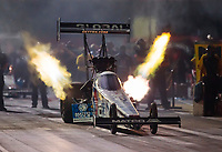 Sep 4, 2020; Clermont, Indiana, United States; NHRA top fuel driver Antron Brown during qualifying for the US Nationals at Lucas Oil Raceway. Mandatory Credit: Mark J. Rebilas-USA TODAY Sports