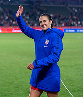 CARSON, CA - FEBRUARY 7: Carli Lloyd #10 of the United States waves to the crowd during a game between Mexico and USWNT at Dignity Health Sports Park on February 7, 2020 in Carson, California.