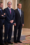 Iberia director, Luis Gallego and Antonio Vazquez Romero before the audience to management committee of Iberia at Zarzuela Palace in Madrid, Spain. March 06, 2017. (ALTERPHOTOS/BorjaB.Hojas)