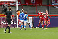 Vivianne Miedema (11) of Arsenal scores goal number 5 for her team and celebrates during Brighton & Hove Albion Women vs Arsenal Women, Barclays FA Women's Super League Football at Broadfield Stadium on 11th October 2020