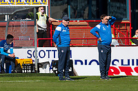 24th April 2021; Dens Park, Dundee, Scotland; Scottish Championship Football, Dundee FC versus Raith Rovers; Raith Rovers manager John McGlynn