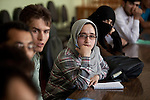 6 June 2013, Mazar-i-Sharif, Afghanistan.  Students who represent various departments meeting for Students Services meeting at Balkh University in Mazar-i-Sharif. The meetings deal with conflict resolution, to propose ideas for the advancement of the University and to collate thoughts on the campus is part of the Strengthening Higher Education Program (SHEP).  Many of the facilities and equipment at the University are being provided under the World Bank funded Strengthening Higher Education Program ( SHEP). The objective of the program is to restore basic operational performance at a group of core universities in Afghanistan. It aims to act as a catalyst to attract resources at Afghan tertiary education in the long term. SHEP is the first major education investment in Afghanistan by the World Bank. In 2008 it received $US 5 million from ARTF to expand infrastructure and equipment to Universities in Kabul, Nangarhar , Balkh and Kandahar.  Picture by Graham Crouch/World Bank