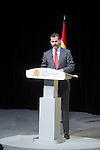 Spain's crown Prince Felipe delivers a speech during the ceremony to designate ambassadors of the Brand Spain. February 12, 2013. (ALTERPHOTOS/Alvaro Hernandez)