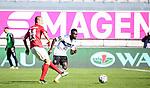 Adam Hlousek und Joseph Boyamba im Zweikampf beim Spiel in der 3. Liga, 1. FC Kaiserslautern - SV Waldhof Mannheim.<br /> <br /> Foto © PIX-Sportfotos *** Foto ist honorarpflichtig! *** Auf Anfrage in hoeherer Qualitaet/Aufloesung. Belegexemplar erbeten. Veroeffentlichung ausschliesslich fuer journalistisch-publizistische Zwecke. For editorial use only. DFL regulations prohibit any use of photographs as image sequences and/or quasi-video.