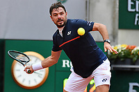 2nd October 2020, Roland Garros, Paris, France; French Open tennis, Roland Garros 2020; Tennis - Roland Garros  2020 - Stan Wawrinka - Sui