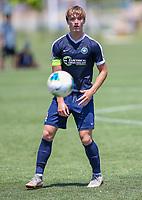 Irvine, CA - July 10, 2019: U.S. Soccer Boys' DA U-18/19 Third Place Sockers FC vs Solar Soccer Club at Great Park.