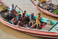 Activity along the Yangon River