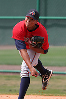 Atlanta Braves minor leaguer Jairo Cuevas during Spring Training at Disney's Wide World of Sports on March 14, 2007 in Orlando, Florida.  (Mike Janes/Four Seam Images)