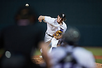 Winston-Salem Dash relief pitcher Declan Cronin (26) delivers a pitch to the plate against the Greensboro Grasshoppers at Truist Stadium on August 13, 2021 in Winston-Salem, North Carolina. (Brian Westerholt/Four Seam Images)