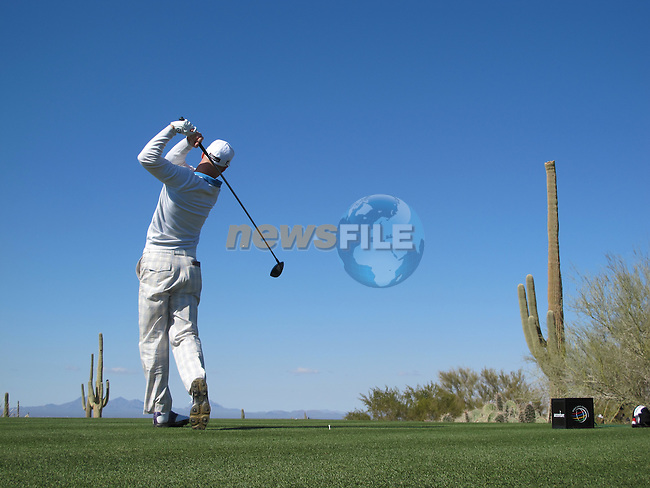 Ben Crane in action during Day 2 of the Accenture Match Play Championship from The Ritz-Carlton Golf Club, Dove Mountain. (Photo Eoin Clarke/Golffile 2011)