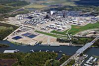 aerial photograph Exxon Mobil refinery Joliet, Channahon, Illinois
