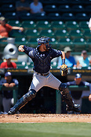 Charlotte Stone Crabs catcher Brett Sullivan (8) throws down to third base during a game against the Bradenton Marauders on April 9, 2017 at LECOM Park in Bradenton, Florida.  Bradenton defeated Charlotte 5-0.  (Mike Janes/Four Seam Images)