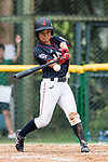 #23 Abe Nozomi of Japan bats during the BFA Women's Baseball Asian Cup match between South Korea and Japan at Sai Tso Wan Recreation Ground on September 2, 2017 in Hong Kong. Photo by Marcio Rodrigo Machado / Power Sport Images
