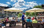 Austria, Tyrol, Pertisau at Achen Lake: sun-deck of Vitalberg-Café | Oesterreich, Tirol, Pertisau am Achensee: Sonnenterrasse des Vitalberg-Cafés
