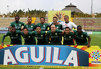 BOGOTA - COLOMBIA - 15 - 07 - 2017:Formación de la Equidad. La Equidad y Deportivo Pasto,  durante partido por la fecha 2 de la Liga Aguila II-2017, jugado en el estadio Metropolitano de Techo de la ciudad de Bogota. /Team of La Equidad. La Equidad and Deportivo Pasto,  during a match for the  date 2 of the Liga Aguila II-2017 at the Metropolitano de Techo Stadium in Bogota city, Photos: VizzorImage  /Felipe Caicedo / Staff.