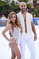 """Alex Beresford and Brianne Delcourt<br /> at the """"Dancing on Ice"""" launch photocall, natural History Museum, London<br /> <br /> <br /> ©Ash Knotek  D3365  19/12/2017"""