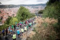 up the brutal (last climb) Alto de Arraiz (up to 25% gradients!) above Bilbao, 7km from the finish <br /> <br /> Stage 12: Circuito de Navarra to Bilbao (171km)<br /> La Vuelta 2019<br /> <br /> ©kramon