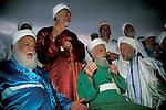 Samaritan Priests, a Prayer before the Passover Sacrifice on mount Gerizim&#xA;<br />