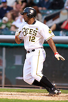 June 17, 2009:  Howard Kendrick of the Salt Lake Bees, Pacific Cost League Triple A affiliate of the Los Angeles (Anaheim) Angles, during a game at the Spring Mobile Ballpark in Salt Lake City, UT.  Photo by:  Matthew Sauk/Four Seam Images