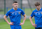 St Johnstone players back for the first day of training at McDiarmid Park in preparation for the 2019-2020 season…25.06.19<br />Wallace Duffy and Murray Davidson take a breather during the yo-yo test<br />Picture by Graeme Hart.<br />Copyright Perthshire Picture Agency<br />Tel: 01738 623350  Mobile: 07990 594431