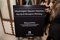 Washington Square Watches Pop-up and Monogram launch party at MOXY Times Square