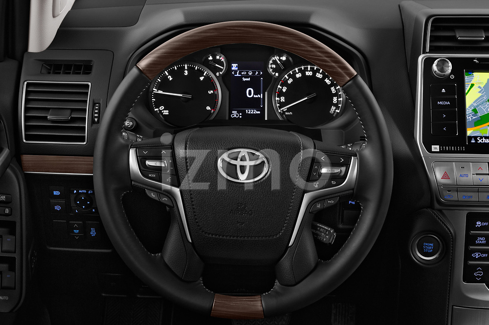 Car pictures of steering wheel view of a 2018 Toyota Land-Cruiser-150 Premium 5 Door SUV Steering Wheel