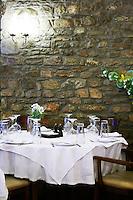 Restaurant in Aetos. Amyndeon Amindeo region, Macedonia, Greece