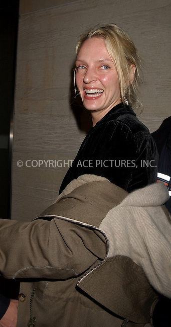 WWW.ACEPIXS.COM . . . . . ....NEW YORK, FEBRUARY 21, 2006....Uma Thurman at the screening and reception for the New York Opening of Academy Award Nominated Film 'STREET FIGHT'....Please byline: KRISTIN CALLAHAN - ACEPIXS.COM.. . . . . . ..Ace Pictures, Inc:  ..Philip Vaughan (212) 243-8787 or (646) 679 0430..e-mail: info@acepixs.com..web: http://www.acepixs.com