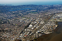 aerial photograph Burlingame, San Mateo county, California