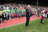 Pictured: Crystal Palace manager Alan Pardue by the dugout prior to the game<br /> Re: Premier League match between Crystal Palace and Swansea City at Selhurst Park on Sunday 24 May 2015 in London, England, UK