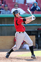 Rocky Gale #37 of the Lake Elsinore Storm bats against the High Desert Mavericks at Mavericks Stadium in Adelanto,California on June 12, 2011. Photo by Larry Goren/Four Seam Images