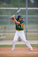 South Vermont Mountaineers center fielder Jacob Villegas (12) during a game against the Edgewood Eagles on March 18, 2019 at Lee County Player Development Complex in Fort Myers, Florida.  South Vermont defeated Edgewood 19-6.  (Mike Janes/Four Seam Images)