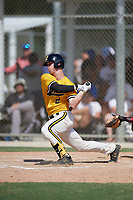 Cody Schrier (2) during the WWBA World Championship at JetBlue Park on October 10, 2020 in Fort Myers, Florida.  Cody Schrier, a resident of San Clemente, California who attends JSerra Catholic High School, is committed to UCLA.  (Mike Janes/Four Seam Images)