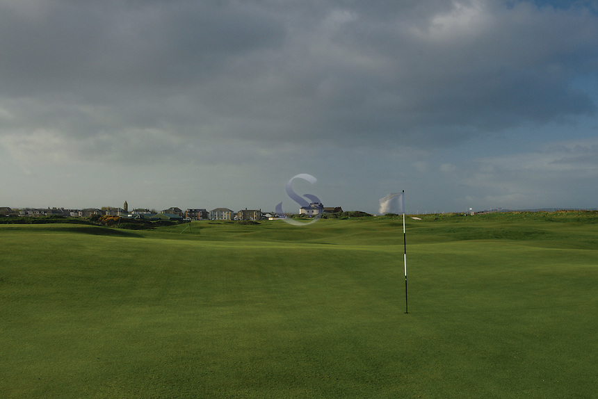 The 1st Green, Prestwick Golf Course, Prestwick, Ayrshire<br /> <br /> Copyright www.scottishhorizons.co.uk/Keith Fergus 2011 All Rights Reserved