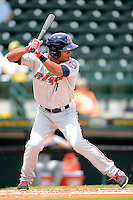 Fort Myers Miracle outfielder Angel Morales #7 during a game against the Bradenton Marauders at McKechnie Field on April 7, 2013 in Bradenton, Florida.  Fort Myers defeated Bradenton 9-8 in ten innings.  (Mike Janes/Four Seam Images)