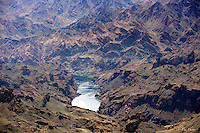 Colorado River flowing through rugged desert terrain