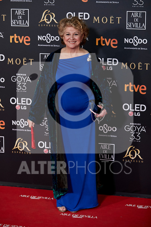Esther Garcia attends to 33rd Goya Awards at Fibes - Conference and Exhibition  in Seville, Spain. February 02, 2019. (ALTERPHOTOS/A. Perez Meca)