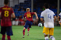 LAKE BUENA VISTA, FL - JULY 27: Justen Glad #15 of Real Salt Lake dribbles the ball during a game between San Jose Earthquakes and Real Salt Lake at ESPN Wide World of Sports on July 27, 2020 in Lake Buena Vista, Florida.