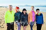 Jerry, Dylan, Nicole, Jackie and Lauren Treanor enjoying a stroll on Banna beach on Saturday.