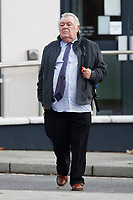 Pictured: Brian Jenkins, outside Brecon Crown Court in Wales, UK. Monday 05 November 2018.<br /> Re: Brian Jenkins, 74, of Redditch, Worcestershire, is accused of sexually abuse at a Jehovah's Witness church in Brecon mid Wales is the 1970s, by taking advantage of the religion's ban on females wearing trousers.