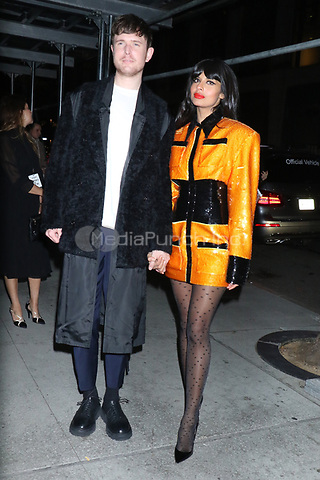 NEW YORK, NY - NOVEMBER 11: James Blake and Jameela Jamil at the 2019 Glamour Women of the Year Awards at Alice Tully Hal, Lincoln Center in New York City on November 11, 2019. Credit: RW/MediaPunch