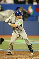 March 7, 2009:  Catcher Vinny Rottino (10) of Italy during the first round of the World Baseball Classic at the Rogers Centre in Toronto, Ontario, Canada.  Venezuela defeated Italy 7-0 in both teams opening game of the tournament.  Photo by:  Mike Janes/Four Seam Images