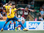West Ham United vs Kitchee during day two of the HKFC Citibank Soccer Sevens 2015 on May 30, 2015 at the Hong Kong Football Club in Hong Kong, China. Photo by Xaume Olleros / Power Sport Images