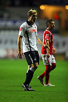 ATTENTION SPORTS PICTURE DESK<br /> Pictured: Gorka Pintado of Swansea City in action <br /> Re: Coca Cola Championship, Swansea City Football Club v Nottingham Forest at the Liberty Stadium, Swansea, south Wales. Saturday 12 December 2009