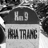 Borne du km 9 a Nha Trang<br /> Le jour du tet ; le nouvel an vietnamien, 5 fevrier 2019