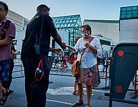 Prevention du COVID - <br /> SAMIAN en spectacle, le 6 aout 2021 dans le cadre du Festival international Pre´sence autochtone 2021<br /> <br /> PHOTO :  Pierre Tran - Agence Quebec Presse
