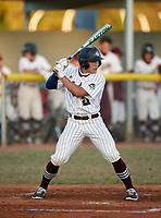 Braden River Pirates shortstop Ryan Waldschmidt (21) bats during a game against the Venice Indians on February 25, 2021 at Braden River High School in Bradenton, Florida. (Mike Janes/Four Seam Images)