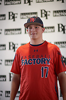 Joe Wozny (17) of The Stony Brook School in Lake Grove, New York during the Baseball Factory All-America Pre-Season Tournament, powered by Under Armour, on January 12, 2018 at Sloan Park Complex in Mesa, Arizona.  (Zachary Lucy/Four Seam Images)