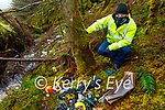 Kerry County Council litter warden John Fitzgerald at the site of the illegal dumping on Mount Eagle, Cordal on Tuesday.